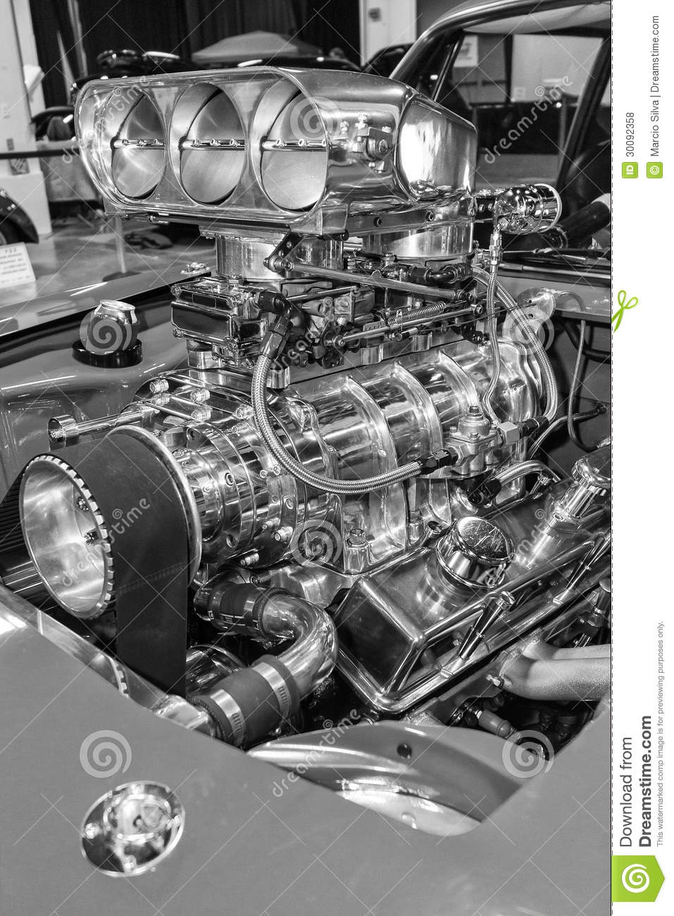 American Muscle Car S Engine Stock Photo Image 30092358
