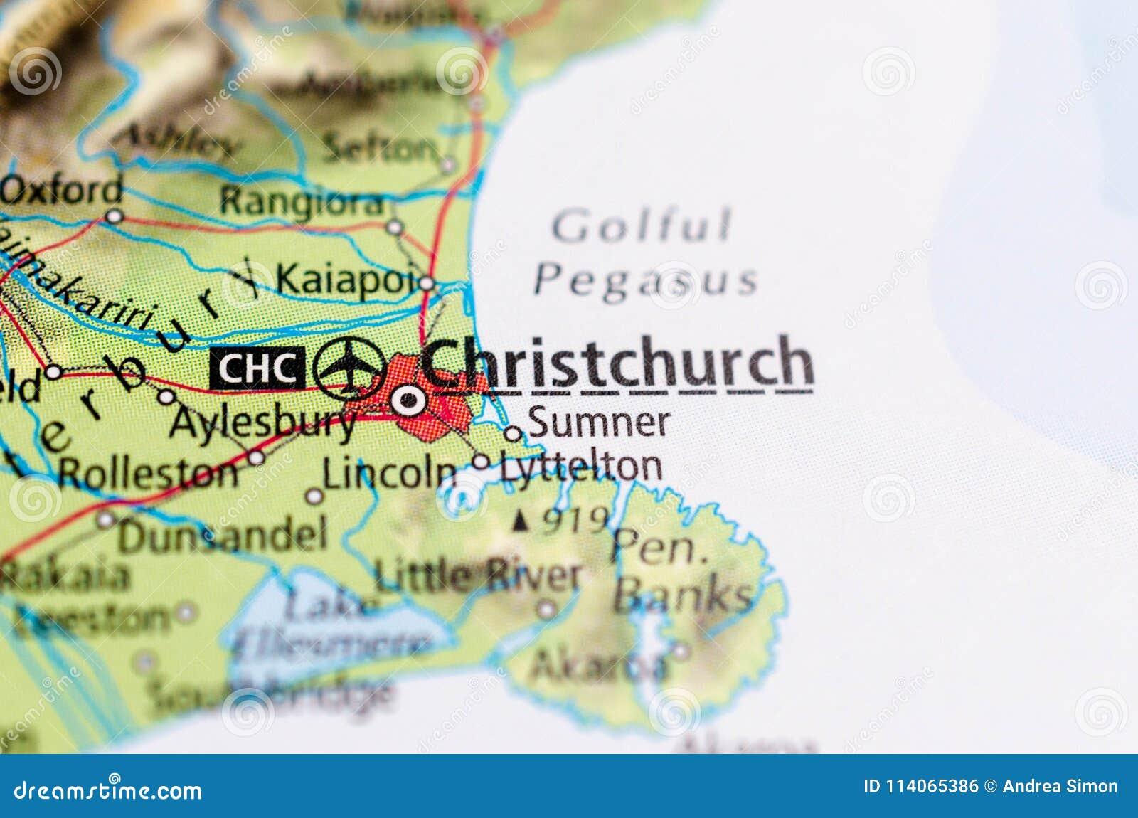 Christchurch Map on