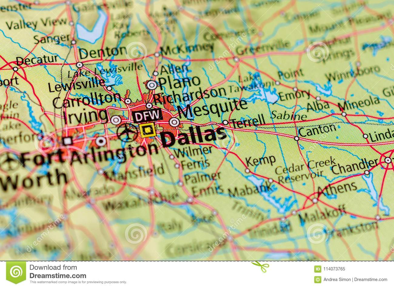 Dallas on map stock image. Image of page, explore ... on dallas ft.worth, dallas fort worth airport map, dallas fort worth texas map, ft.worth map, arlington and fort worth map, greater dallas fort worth map, dallas fort worth map vector, dallas fort worth area, dallas fort worth metroplex cities,