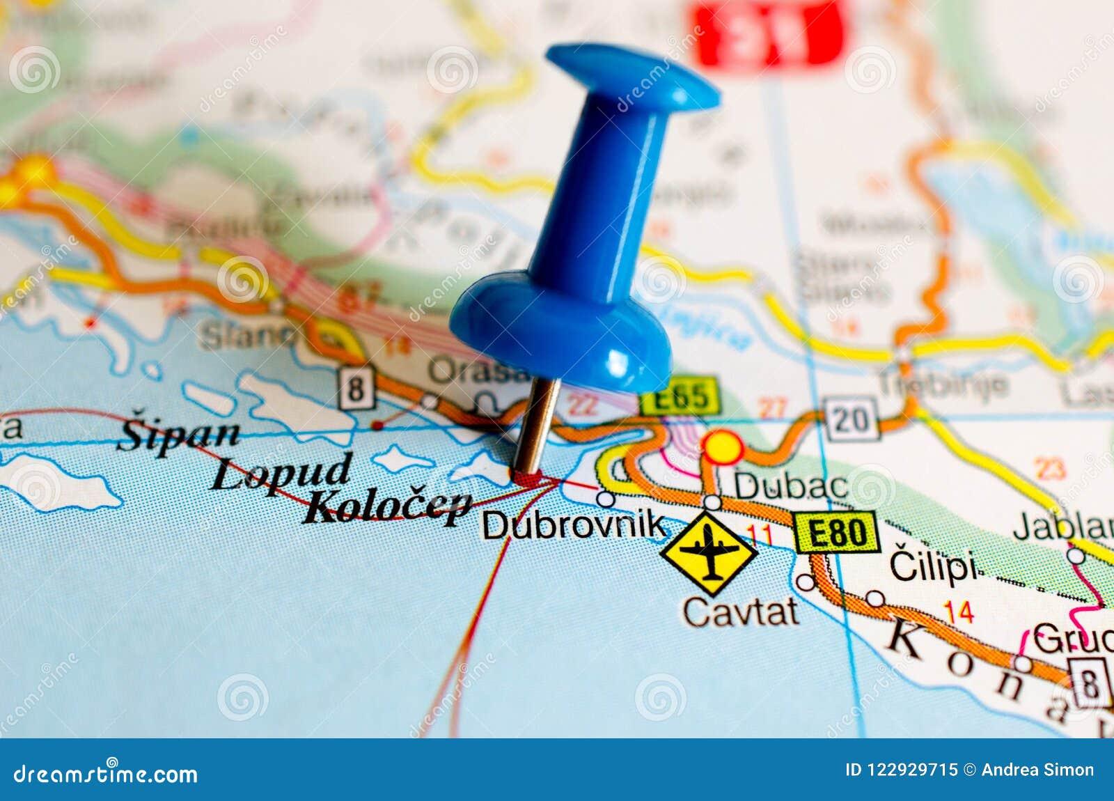 Dubrovnik Map on