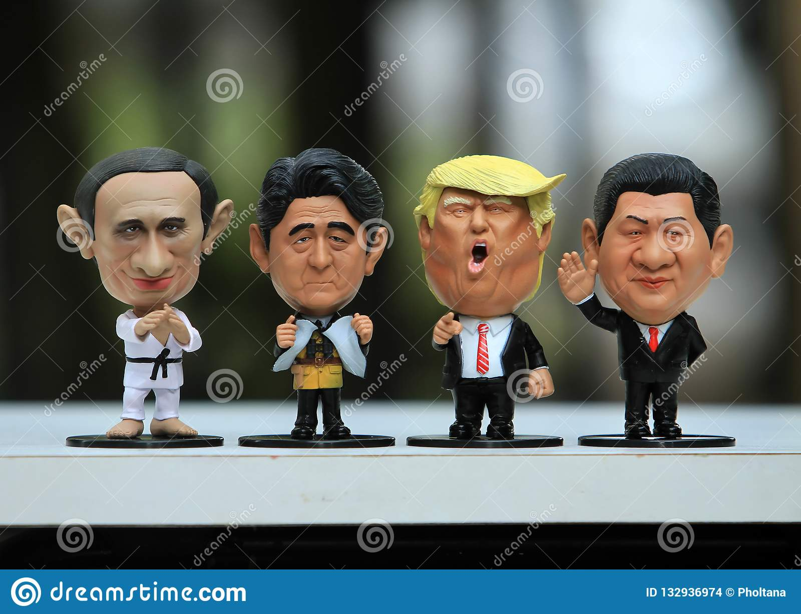 Close up shot of Four Leaders Model