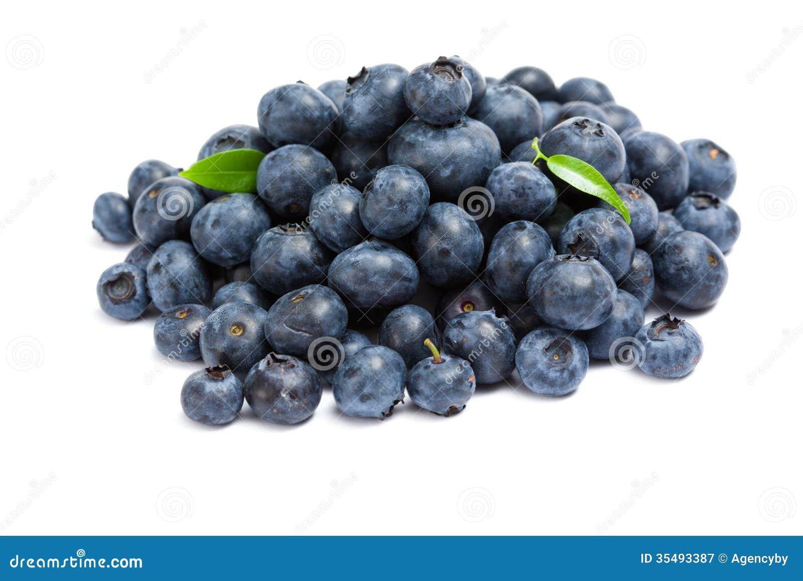 Close up shot of heap of bilberry