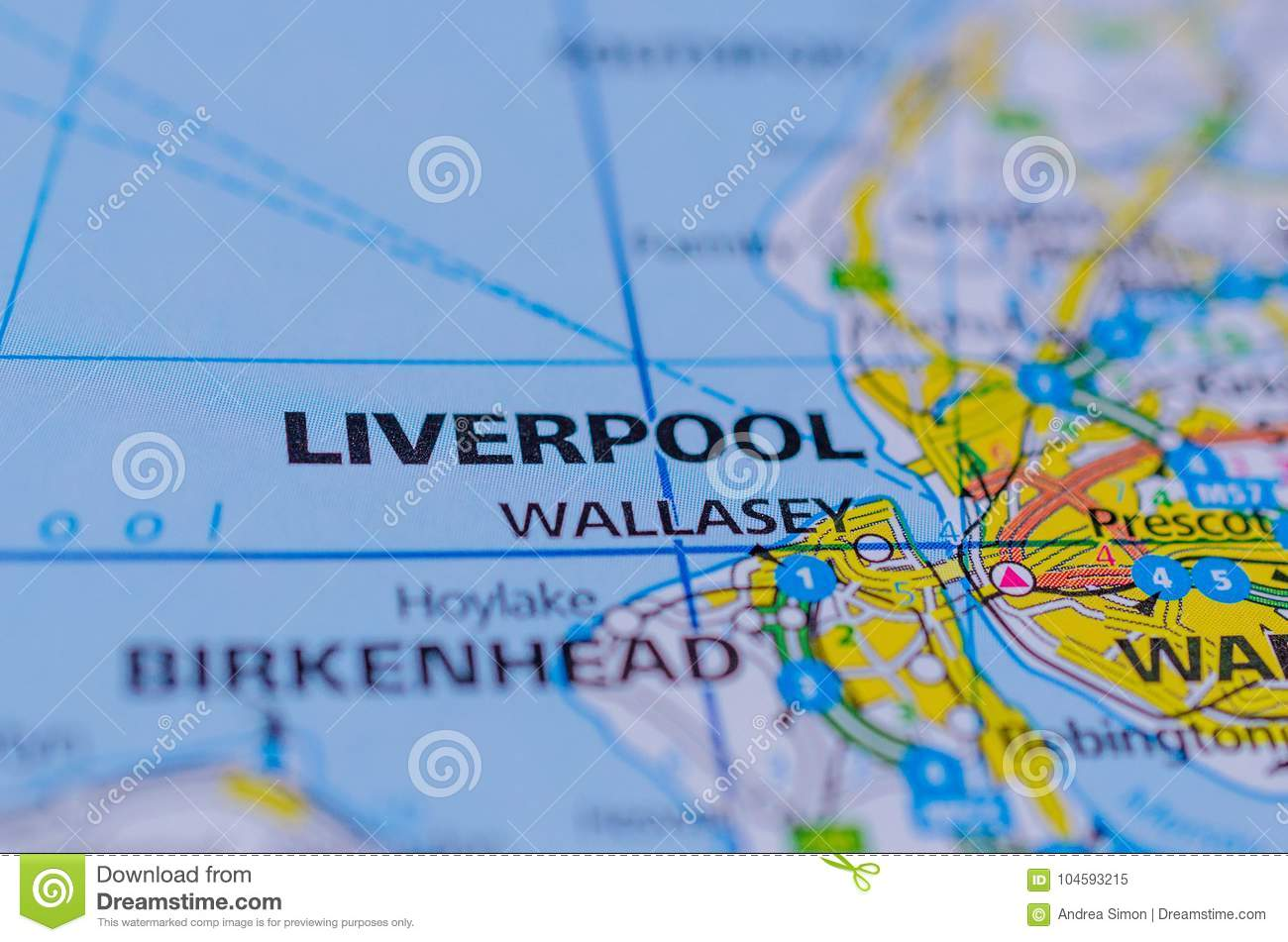 Liverpool on map