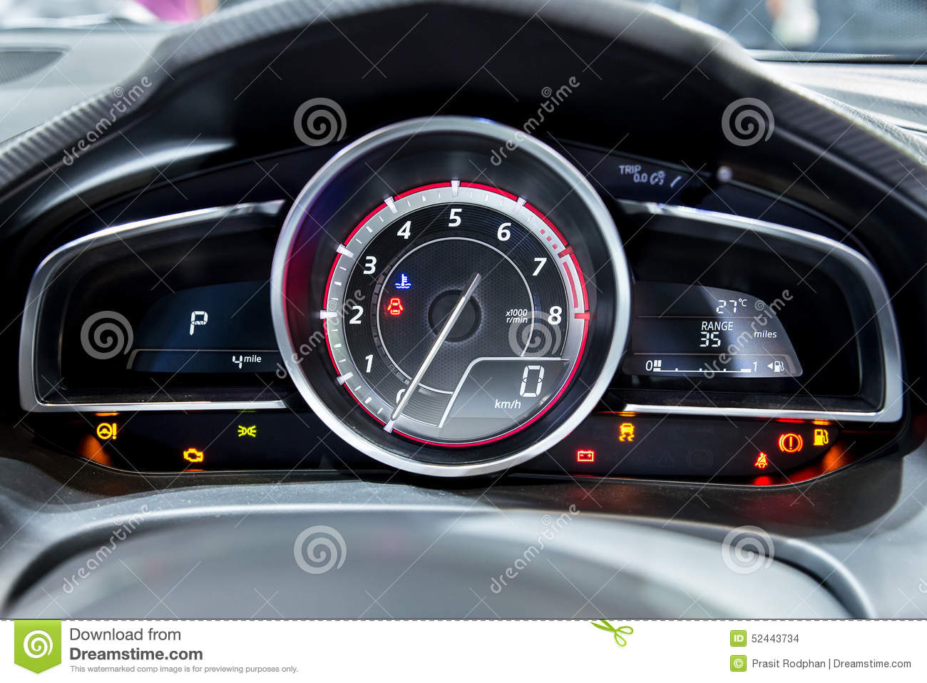 modern car speedometer close up shot of the dashboard stock photography. Black Bedroom Furniture Sets. Home Design Ideas