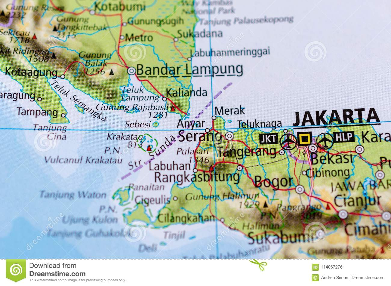 Singapore on map stock photo. Image of continent, city - 114067276