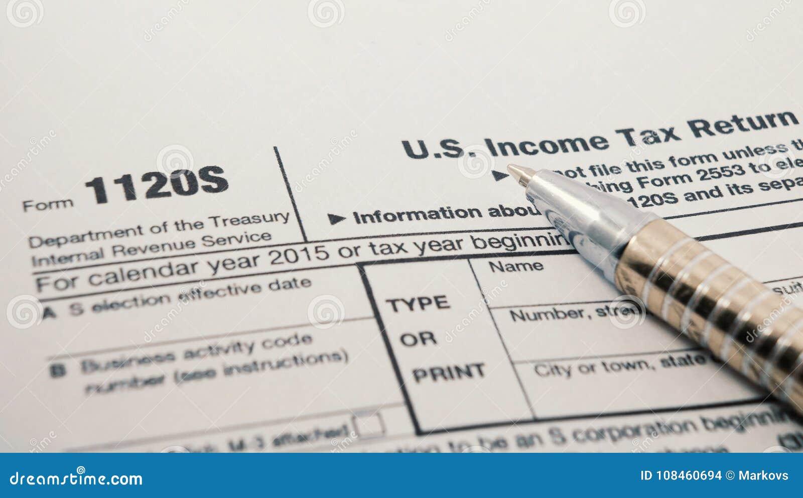 Close Up Shot Of United States Internal Revenue Service IRS Tax ...