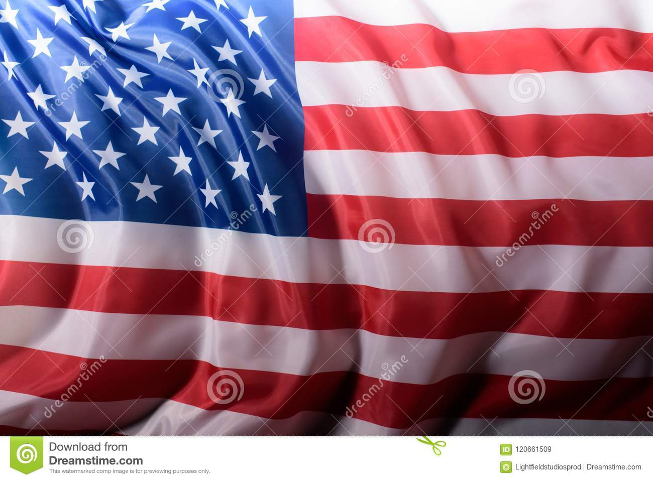close-up shot of waving united states flag, Independence