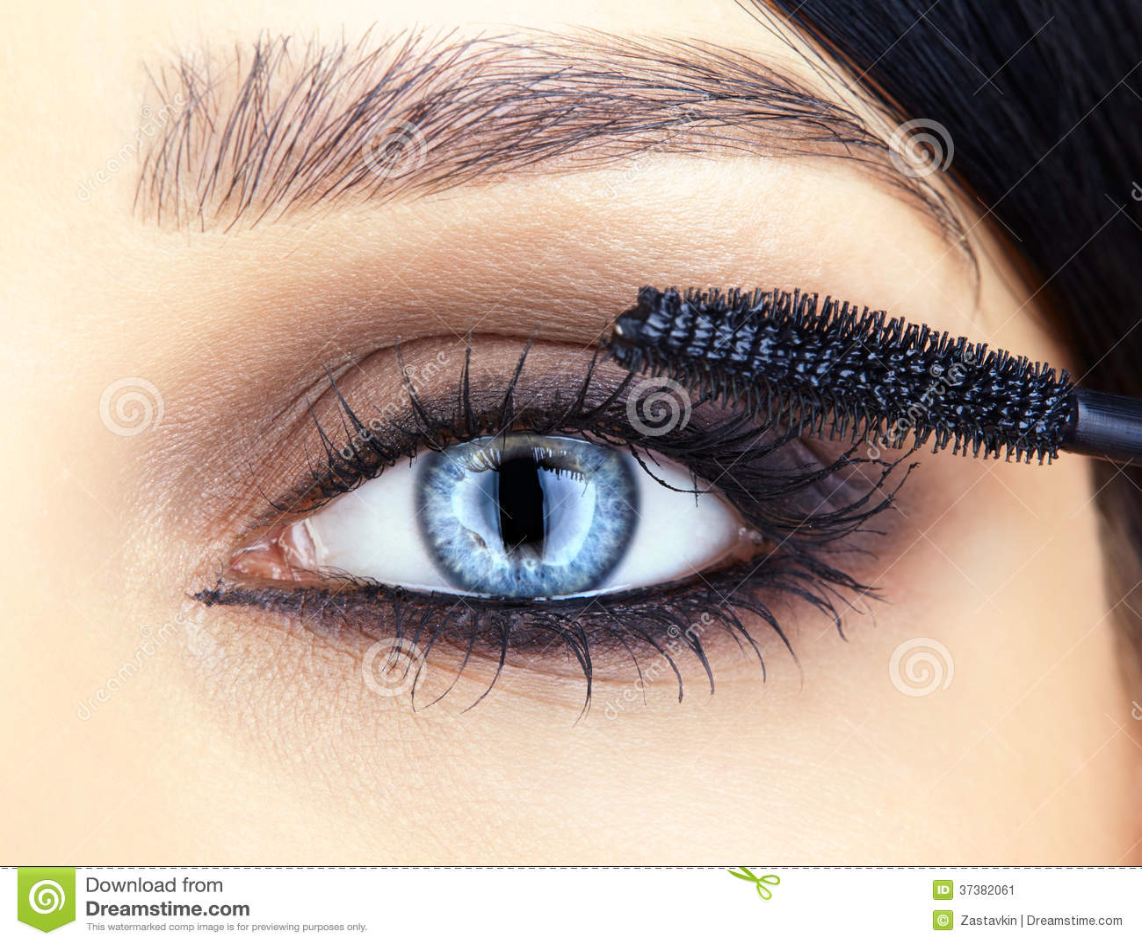 close up shot of woman eye makeup stock image image 37382061. Black Bedroom Furniture Sets. Home Design Ideas