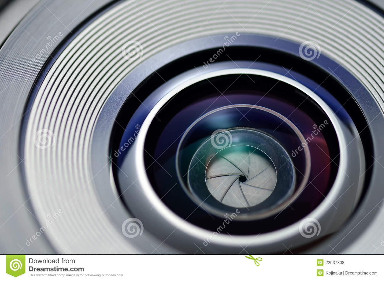 The close-up of a shutter.