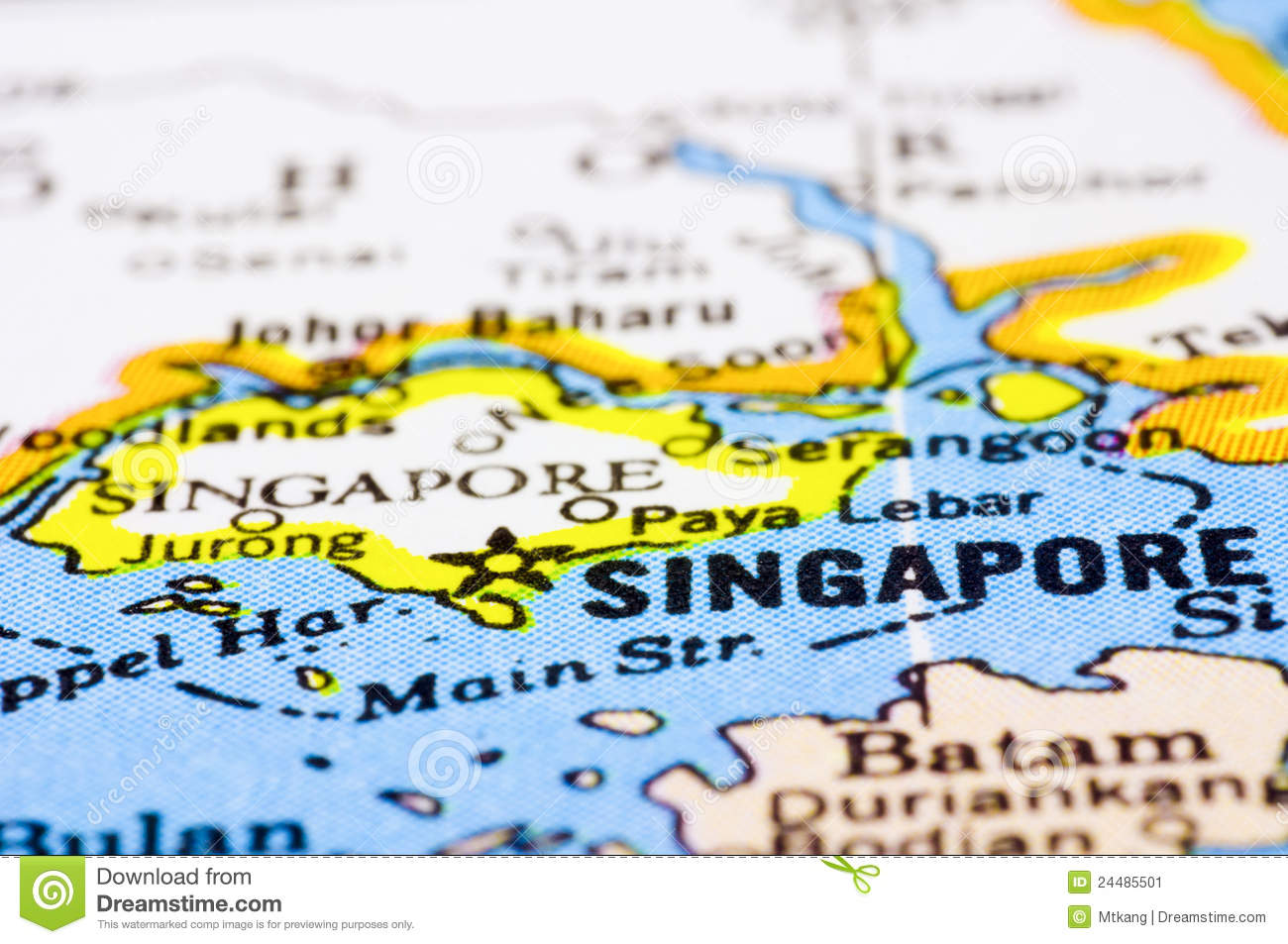 Close Up Of Singapore On Map Stock Image - Image of cosmopolitan ...