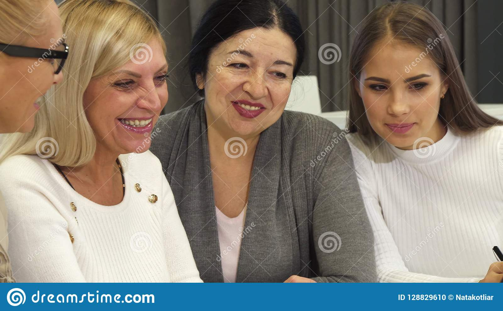 Close up of businesswomen having a meeting at the boardroom
