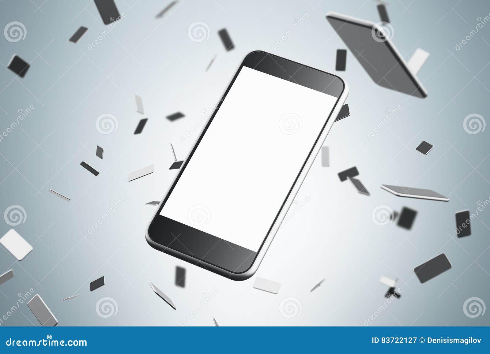 Close Up Of Smartphone Stock Illustration