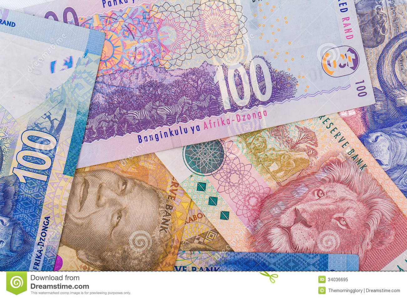 up of south currency the rand royalty free stock photo image 34036695