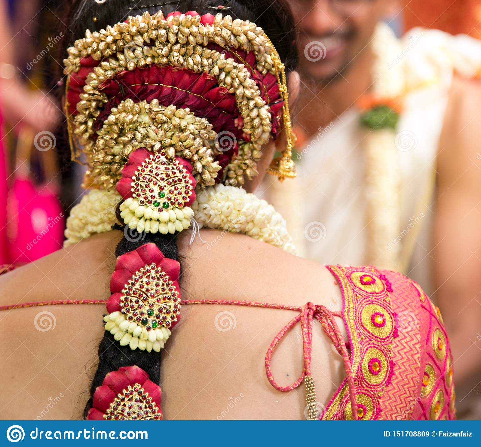 South Indian Wedding Jewelry And Ornaments Editorial Stock Image