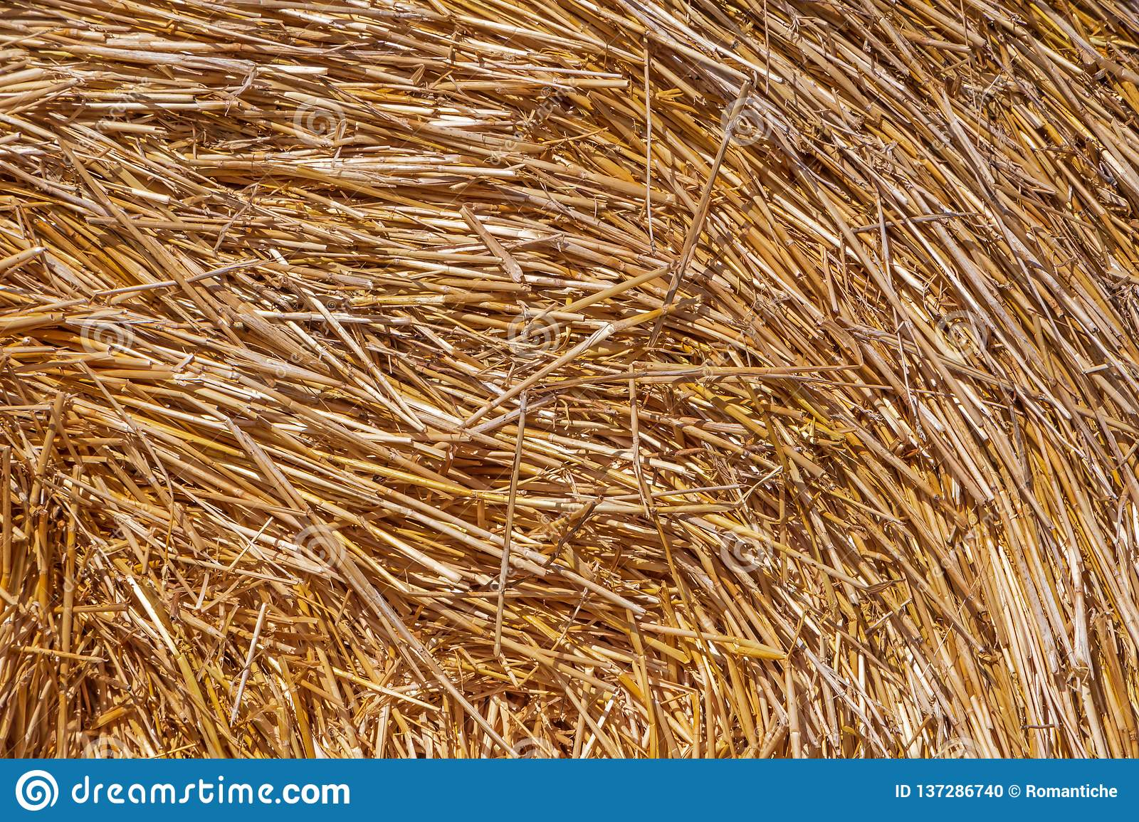 Straw in stack