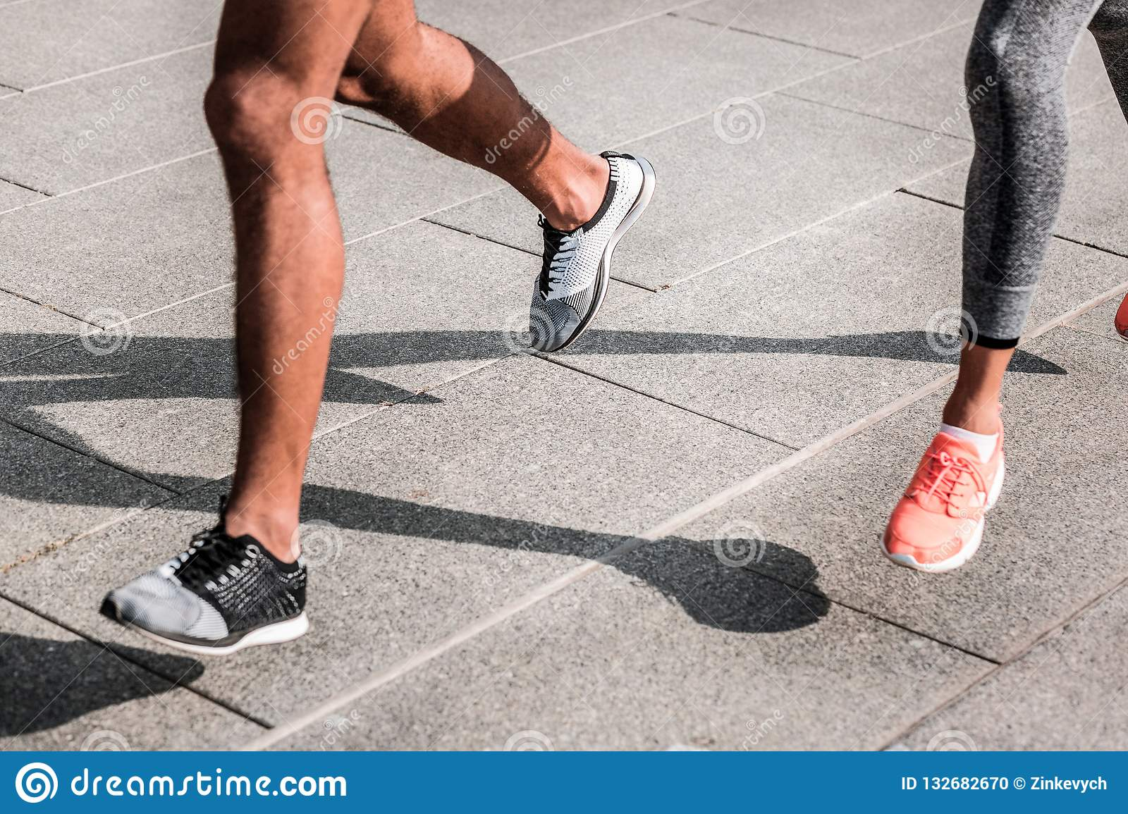 Close Up Of Strong Muscular Male Legs Stock Photo - Image