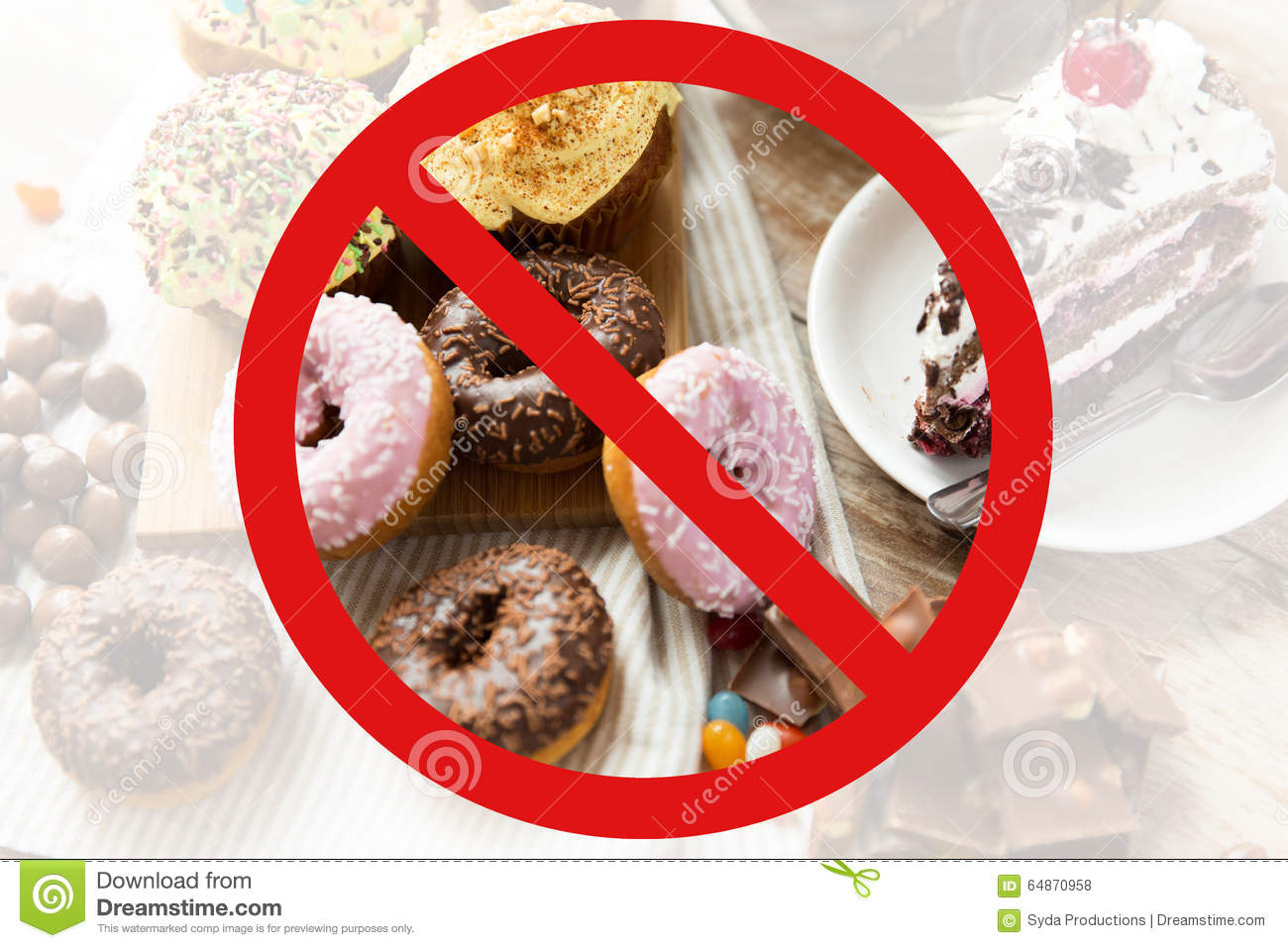 Close Up Of Sweets On Table Behind No Symbol Stock Photo