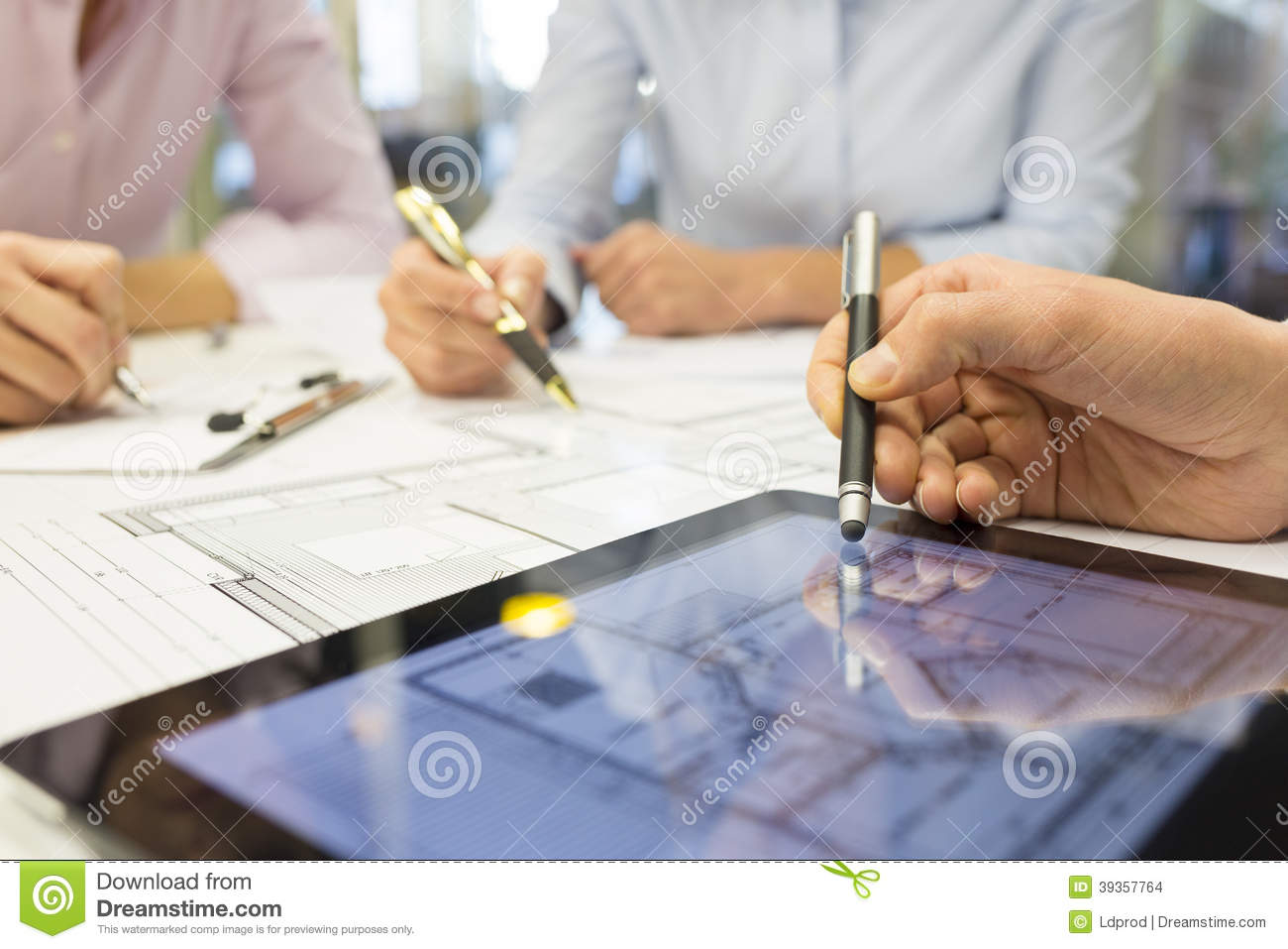 Close up of team architects working on constructio stock photo royalty free stock photo malvernweather Image collections