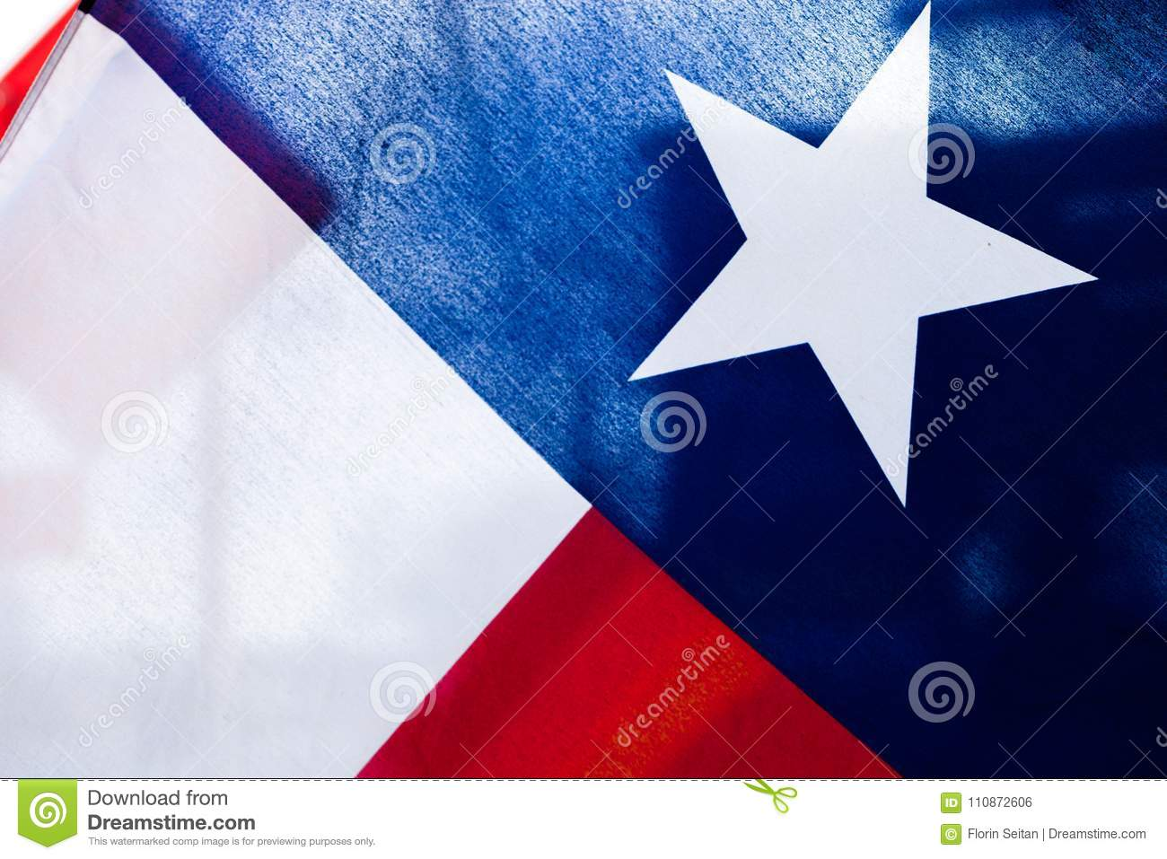 Download Close Up Of Texas Flag With Light Coming Through Stock Photo    Image Of Blue Nice Design