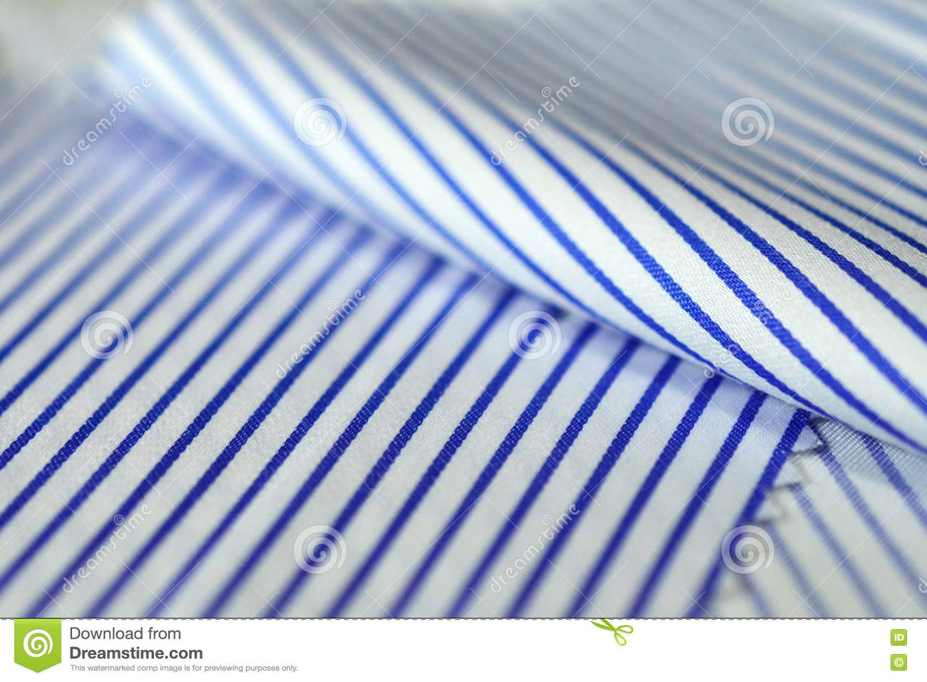 5d40d15193 Close Up Texture Fabric Thin Blue Line And White Of Shirt Stock ...