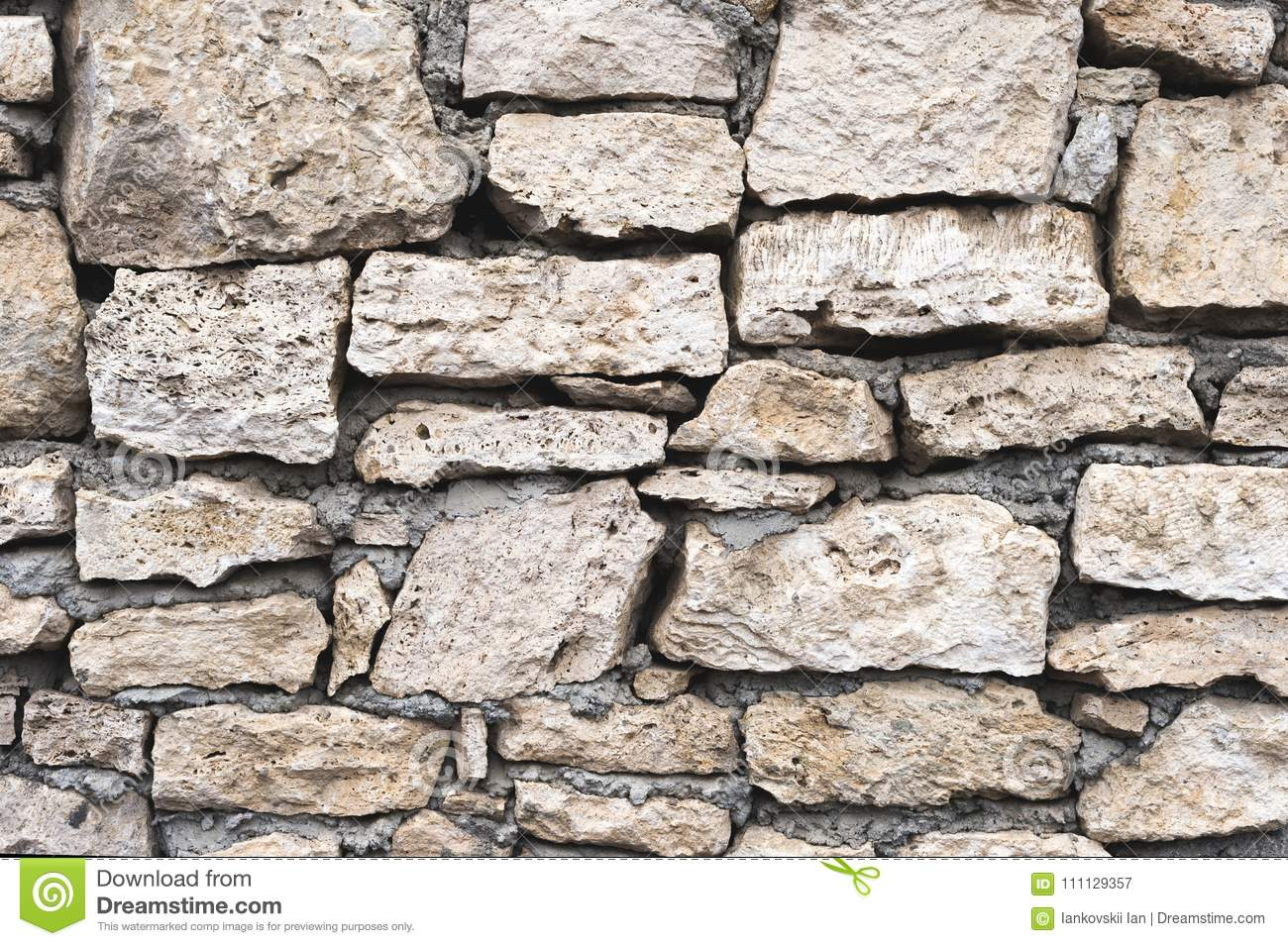 Close-up Textured Background Is An Irregular Natural Stone Wall ...