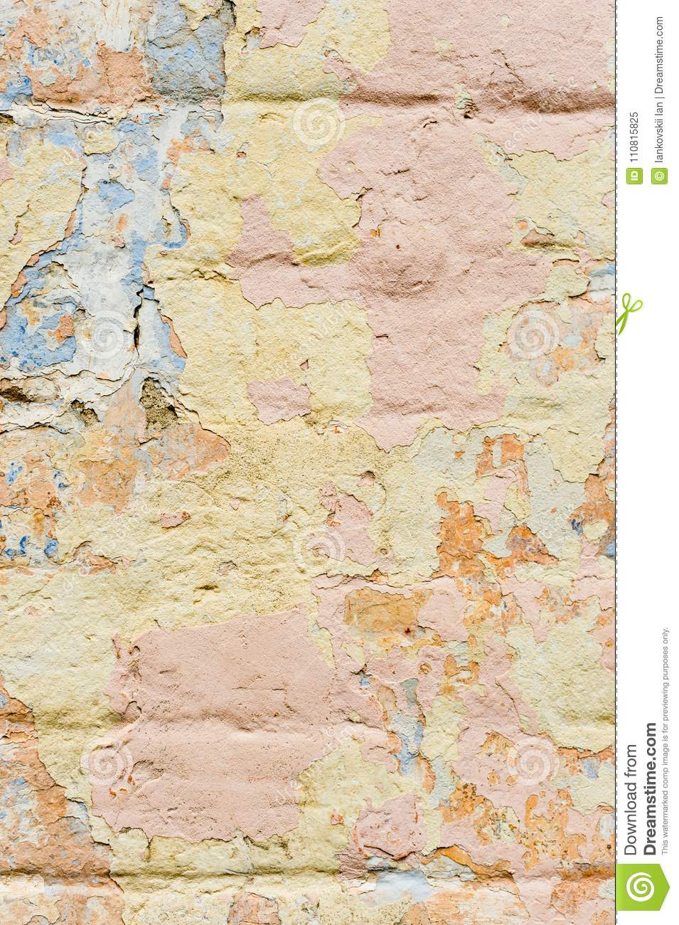 Close-up Textured Background Of Multi-layer Flaking Paint On The ...