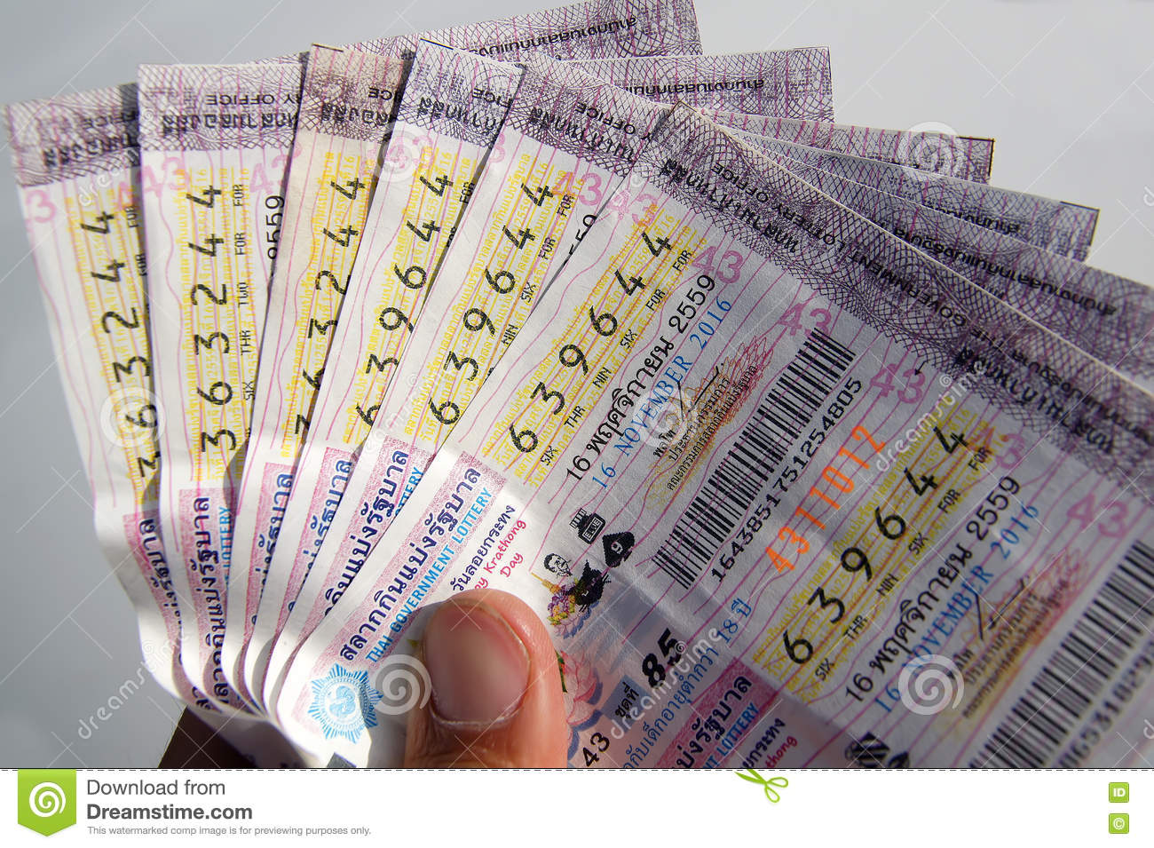 Close-up Thai Government Lottery Stock Image - Image of