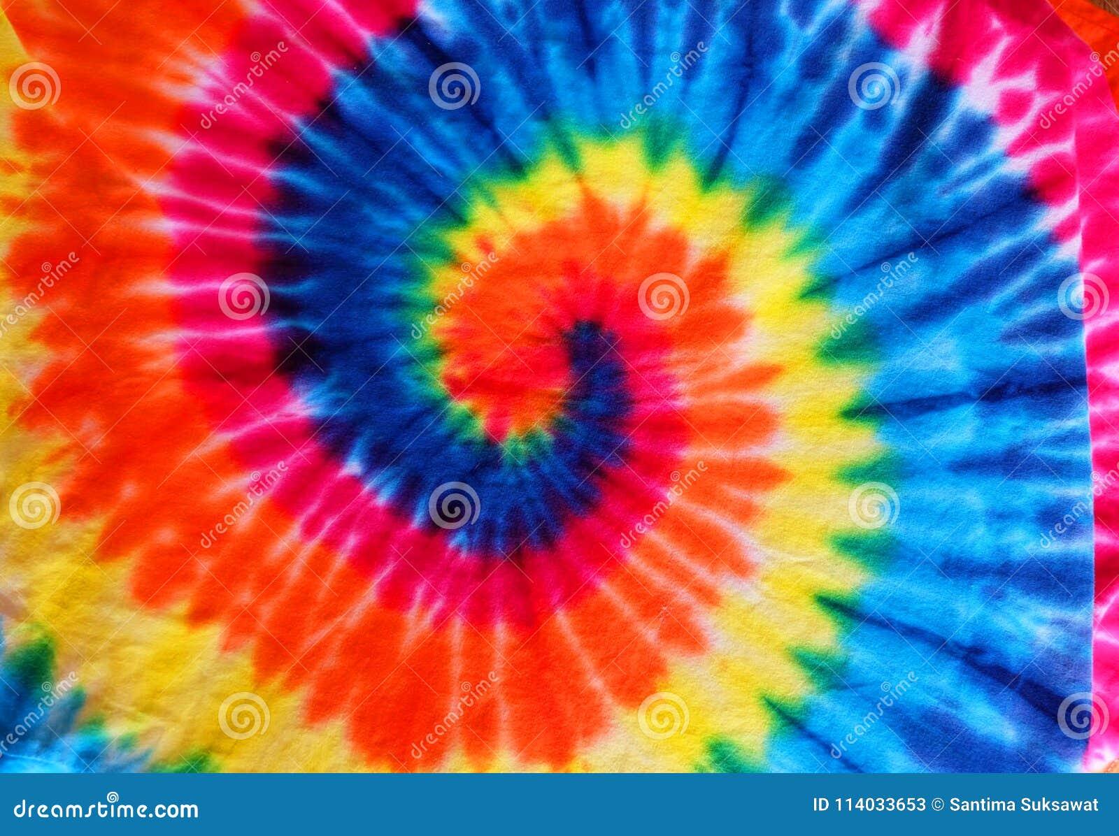 Close up tie dye fabric pattern background
