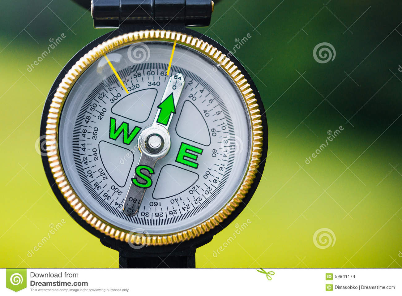 Close Up Of Tourism Compass Stock Photo