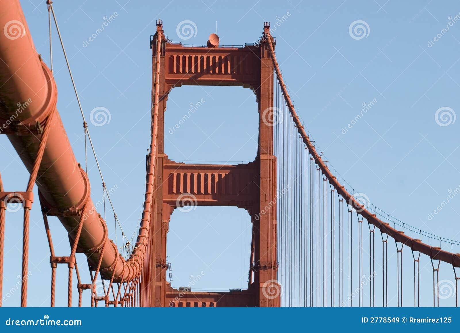 Close up tower Golden Gate
