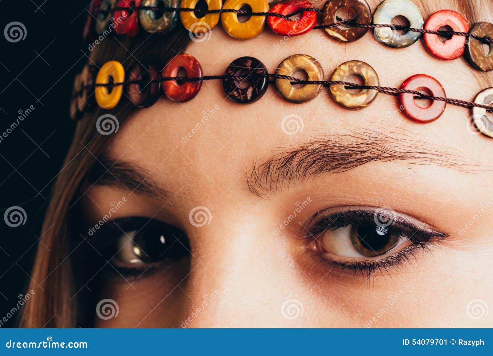 Close-up van bruine ogen