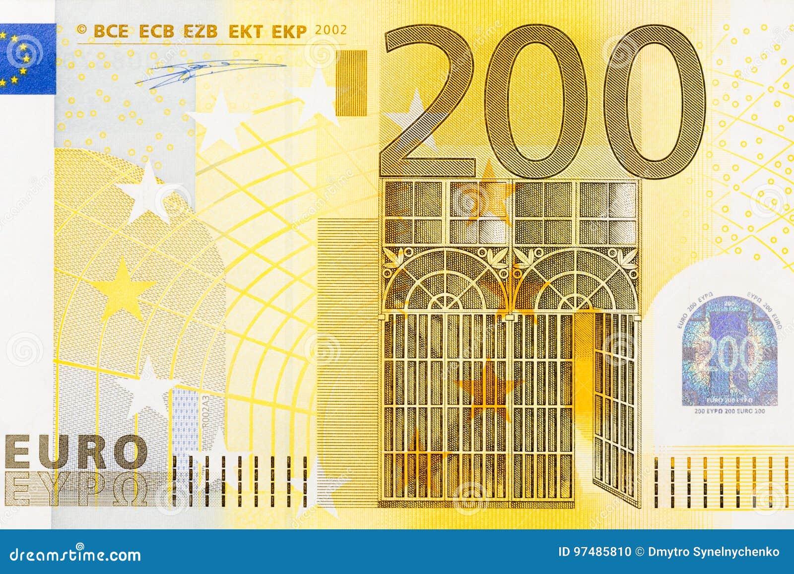 up deel 200 bankbiljet stock foto