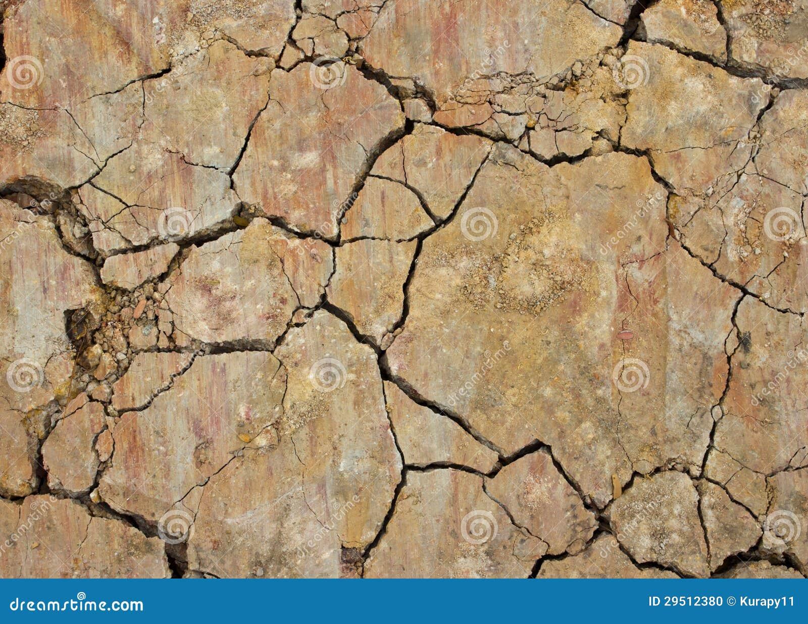 Close-up van droge grondtextuur.