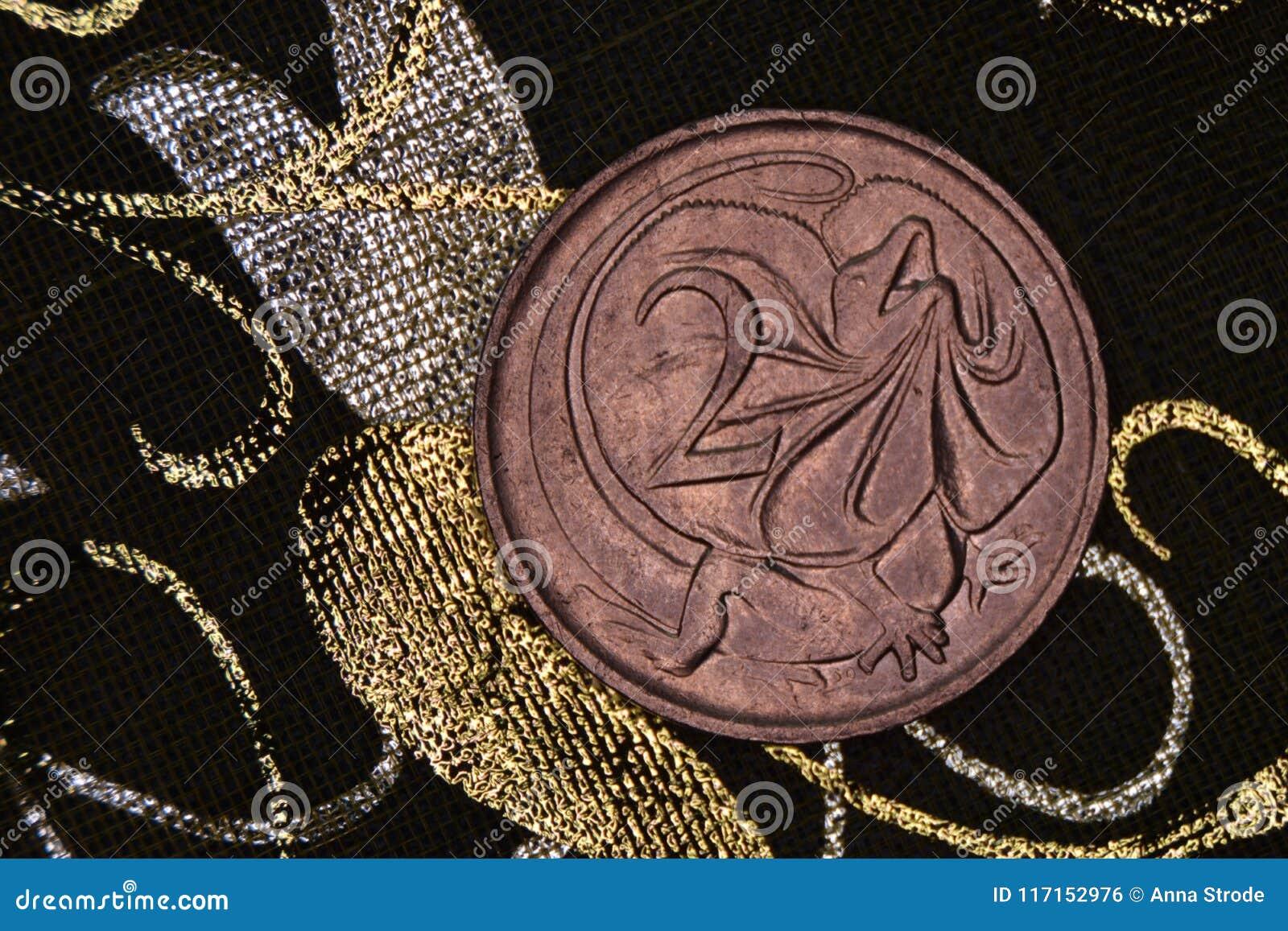 Close-up van een Australisch 2 centmuntstuk