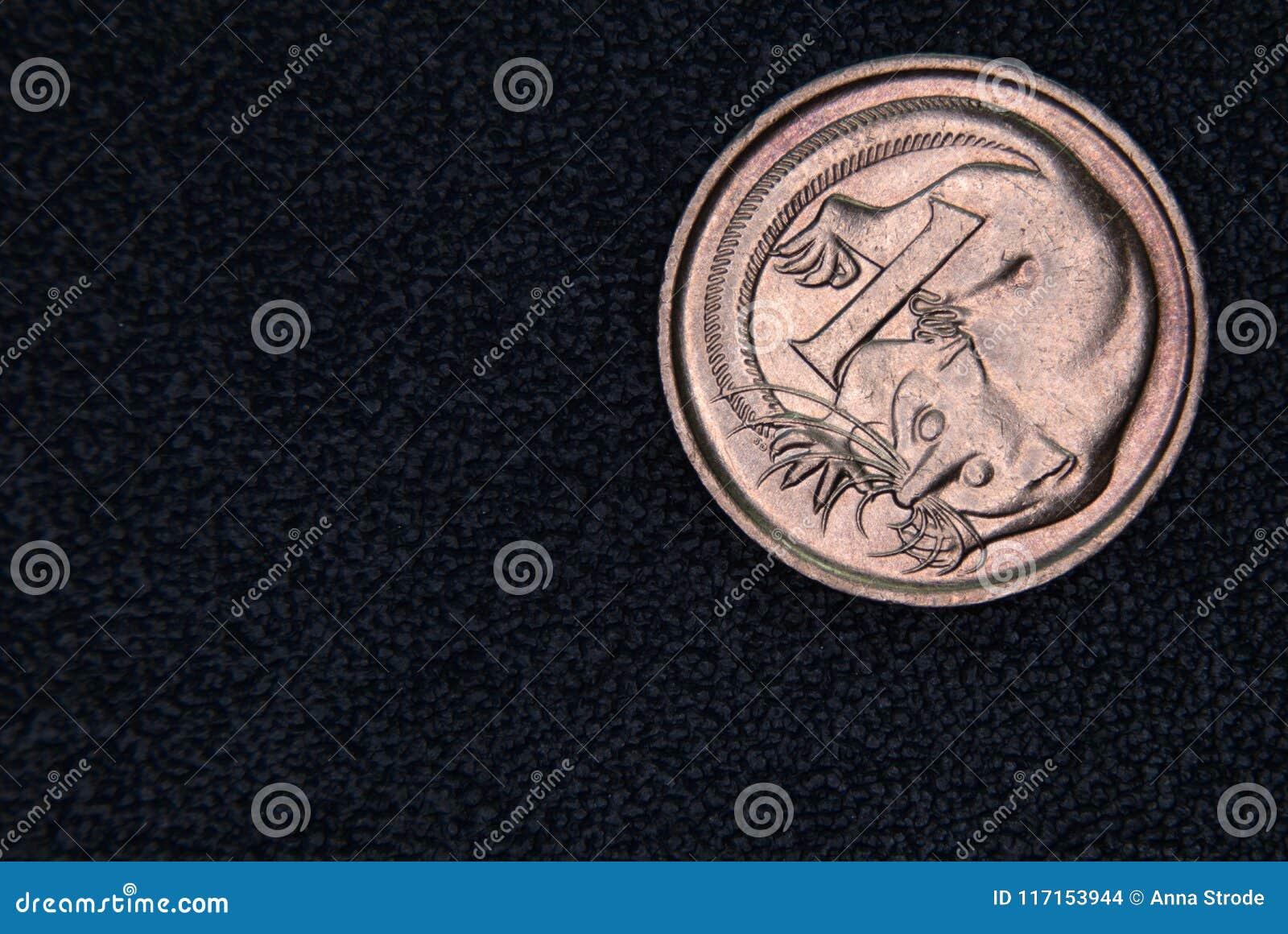Close-up van een Australisch 1 centmuntstuk