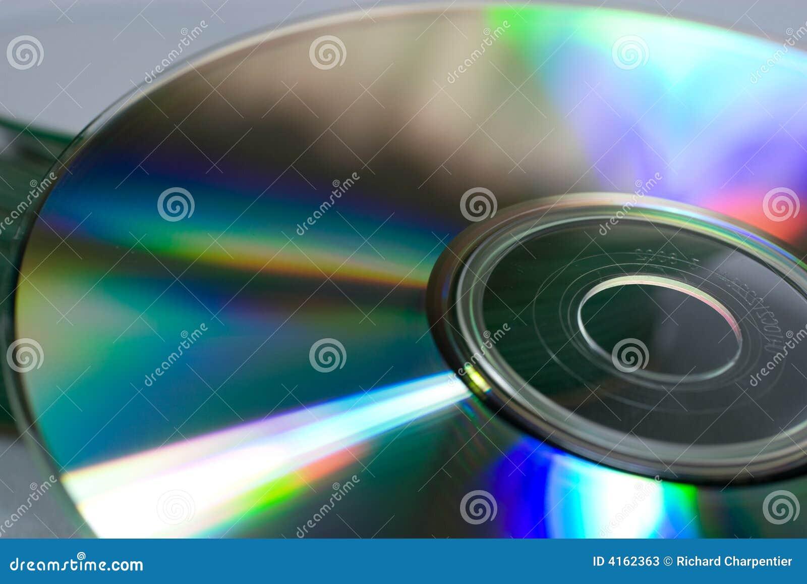Close-up van een compact disc