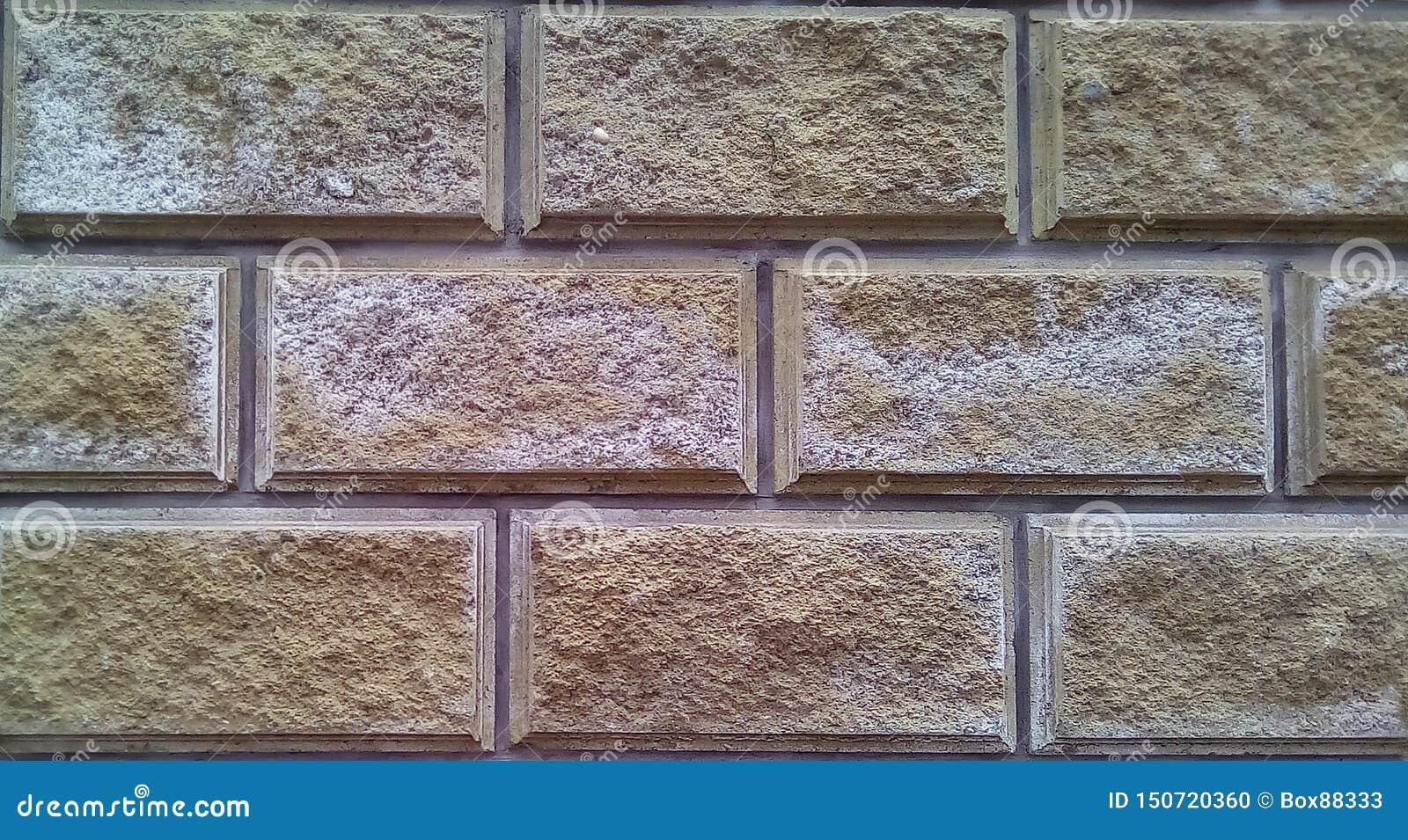 Close-up van een deel van de muur van decoratieve bakstenen