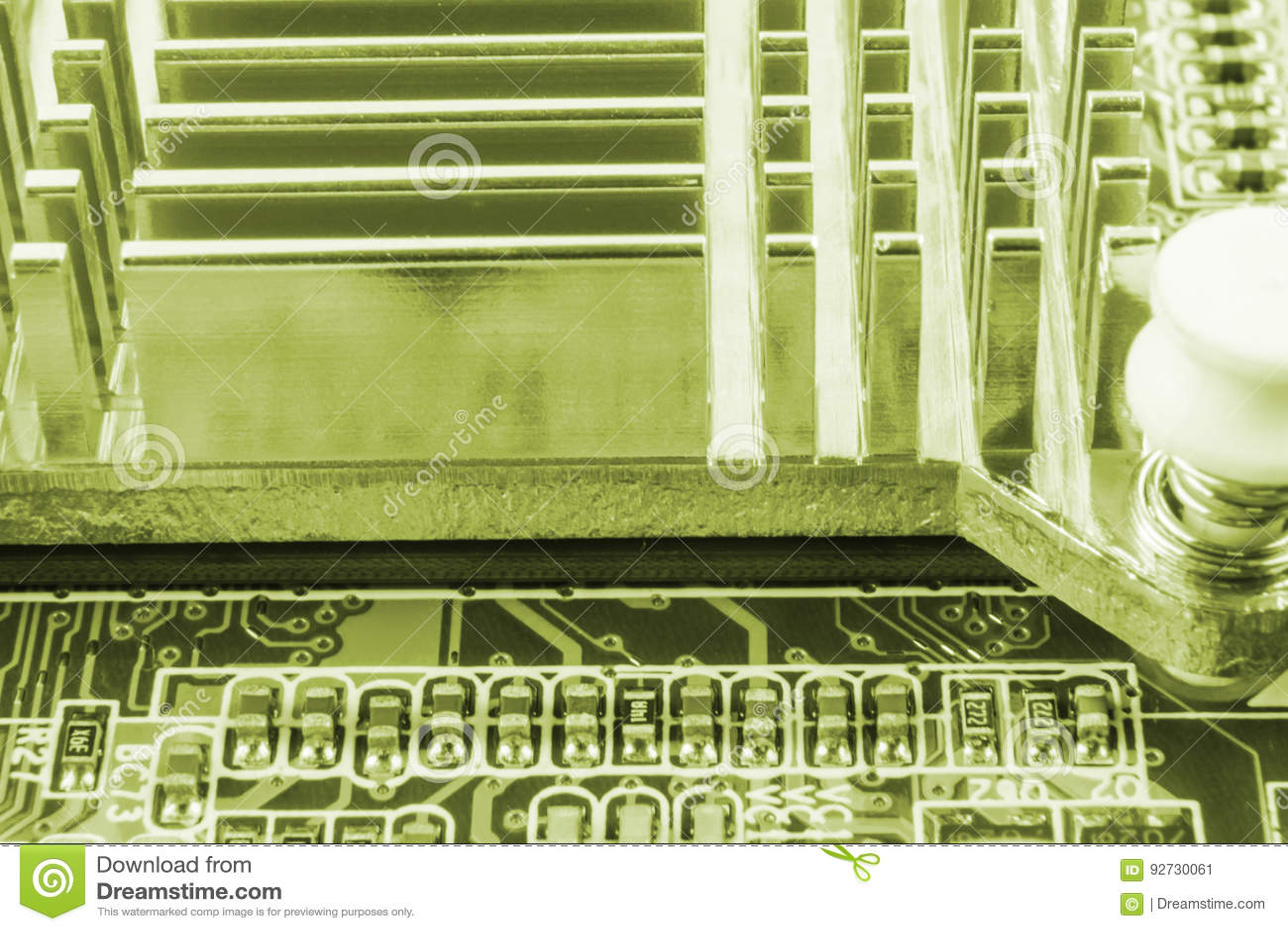 Close-up van elektronische kringsraad met bewerker