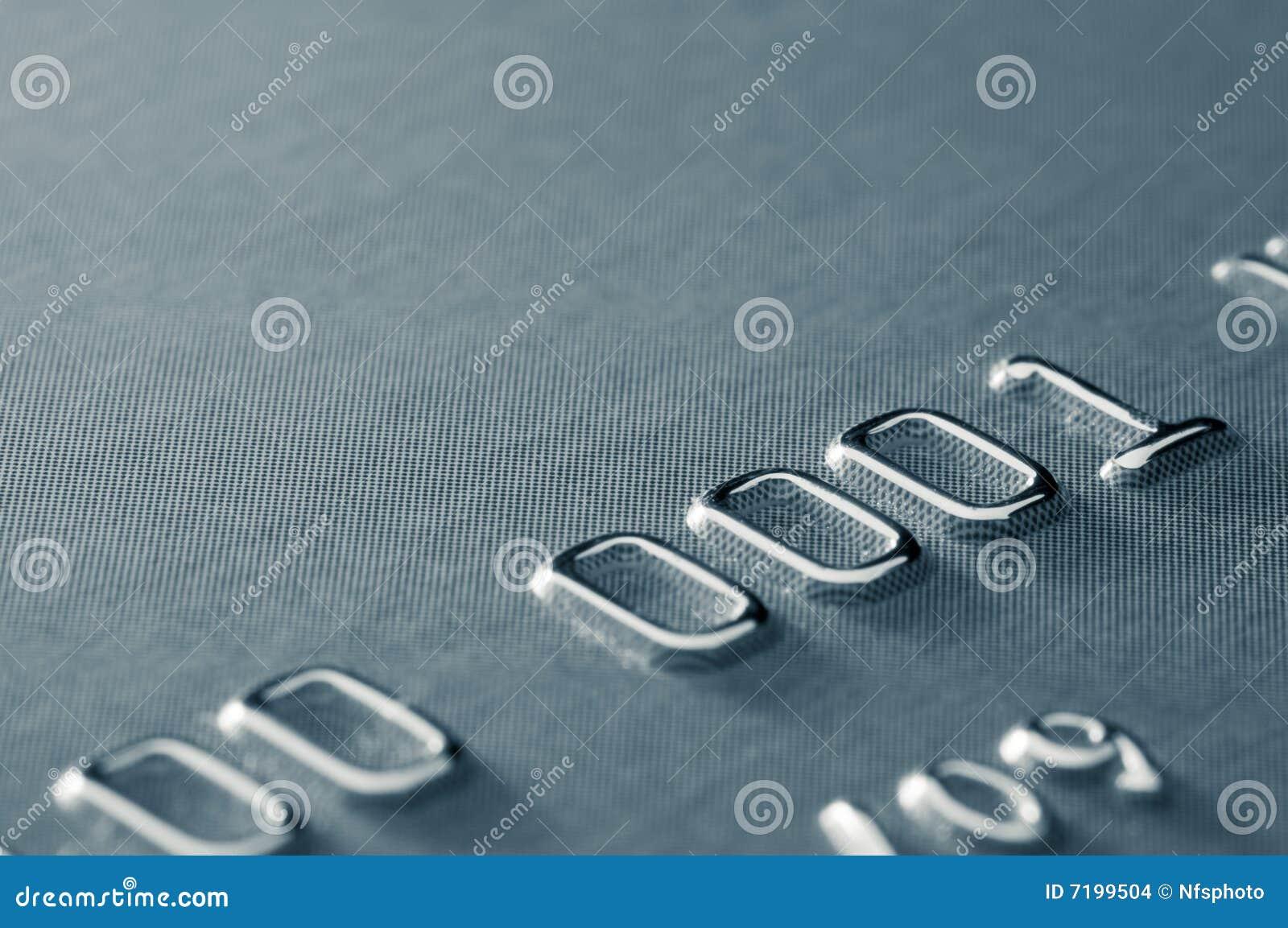 Close-up van gedeeltelijk creditcardaantal