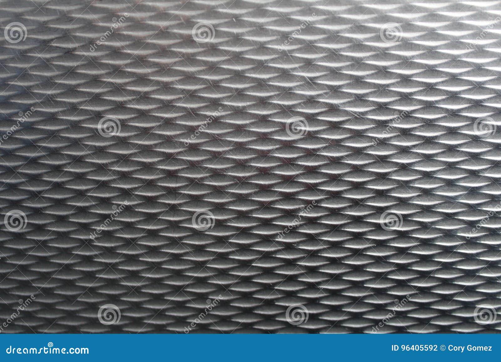 Close-up van geweven staal