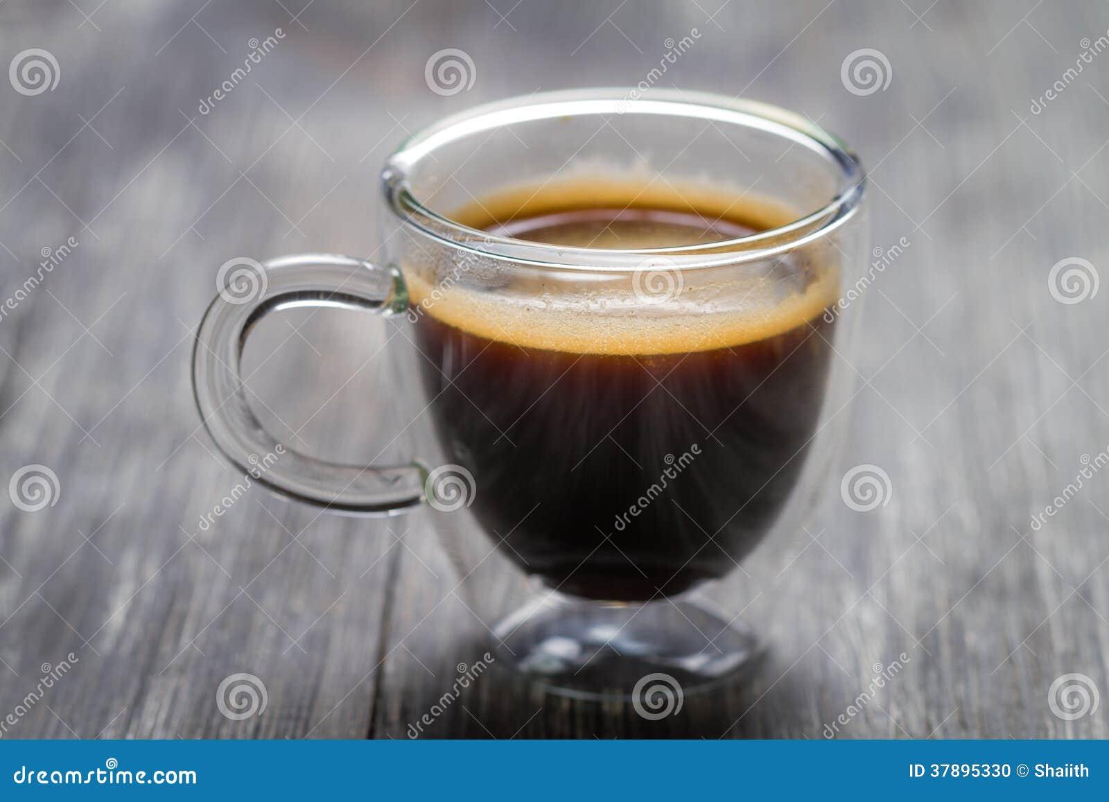 Close-up van kleine kop met espresso