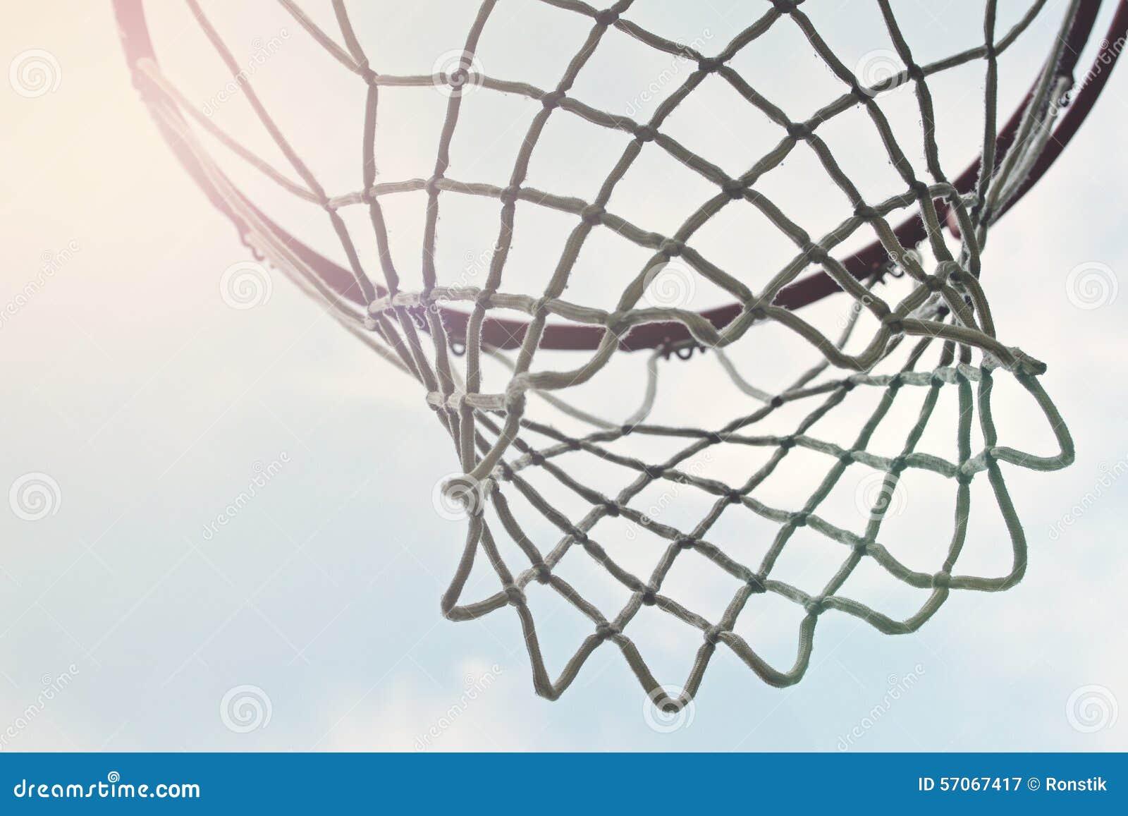 Close-up van openlucht netto basketbalhoepel