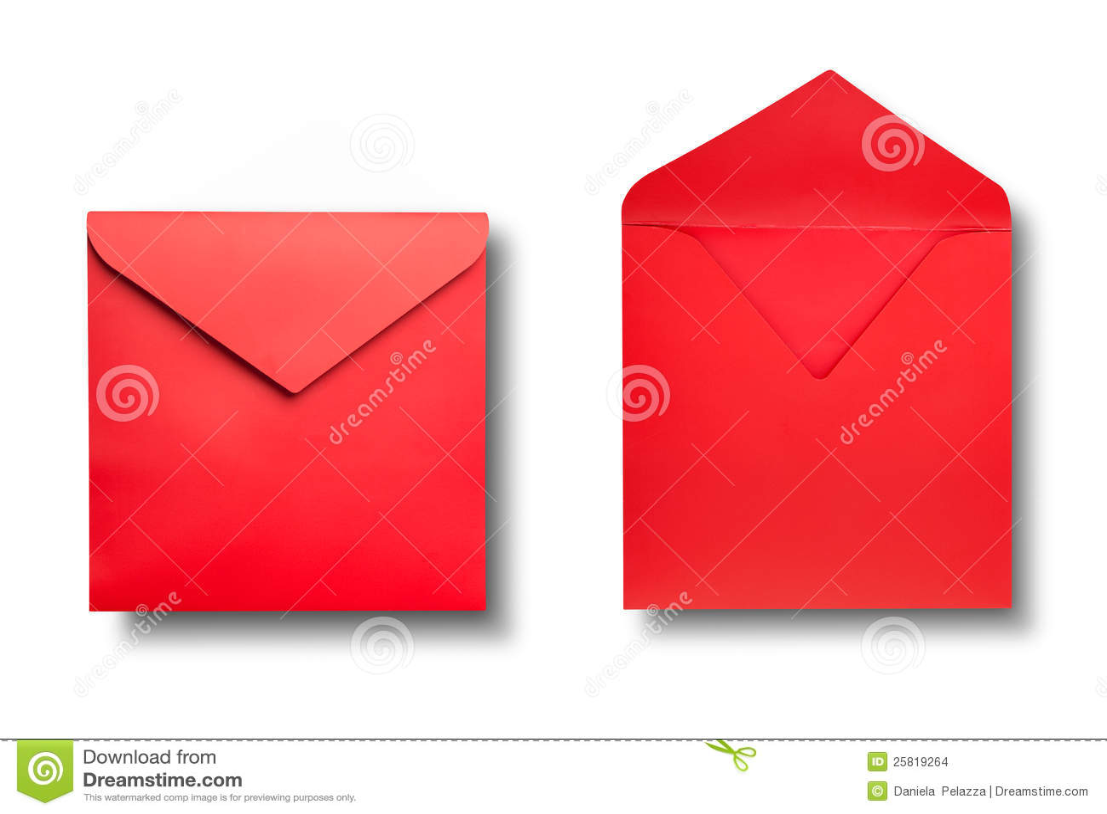 Close-up van twee enveloppen.