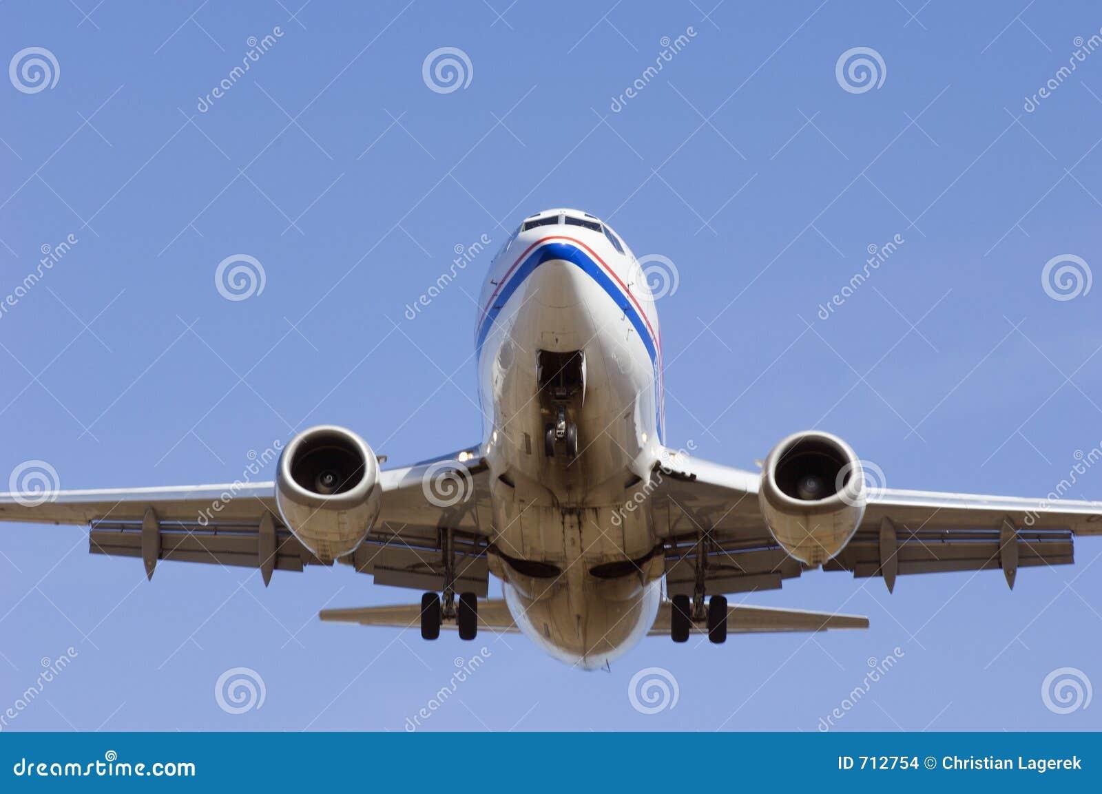 Close-up van vliegtuig
