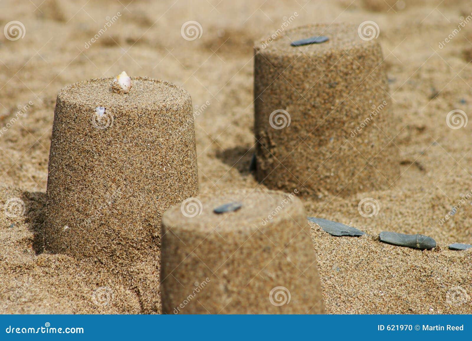 Close-up van zandkasteel