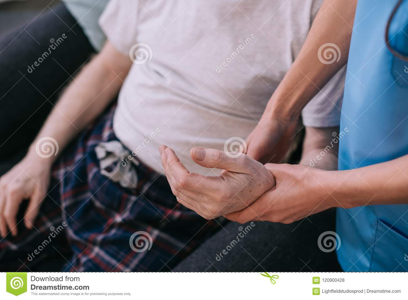 Doctor Examining Patients Pulse Stock Photo - Image of