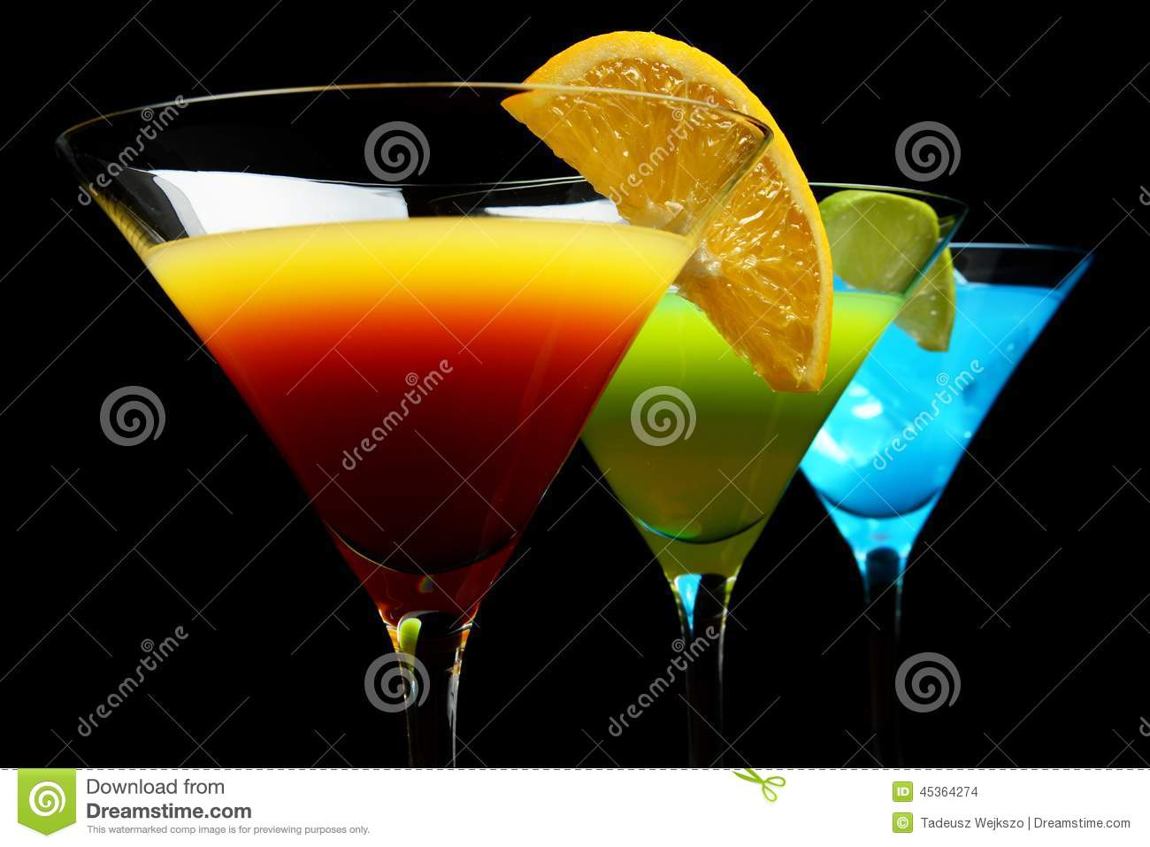 Close-up view of cosmo drinks on a party