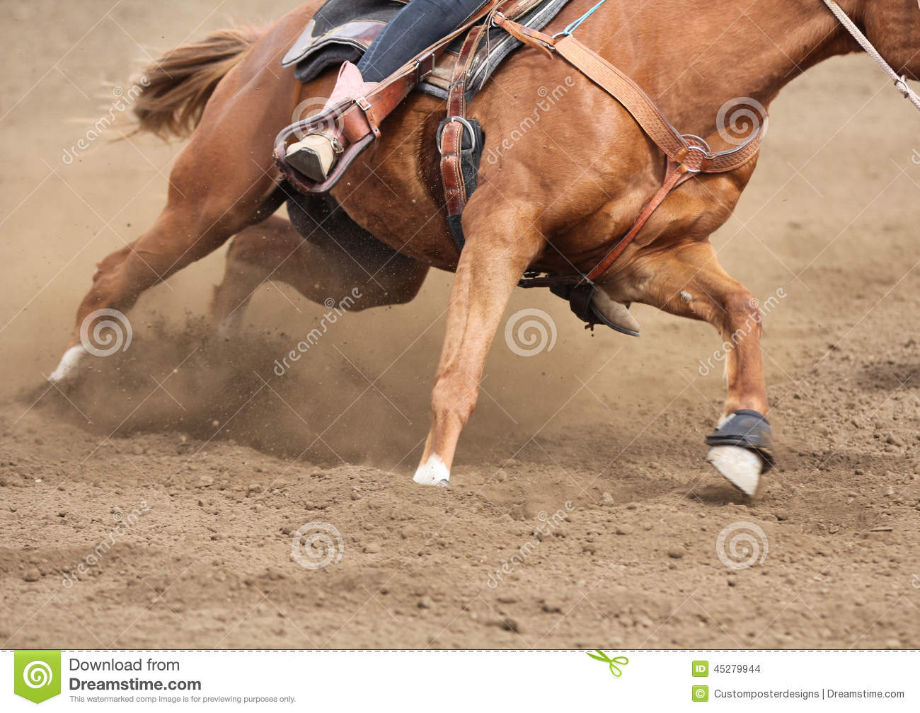 Download A Close Up View Of A Fast Running Horse And Flying Dirt. Stock Photo - Image of abstract, boot: 45279944