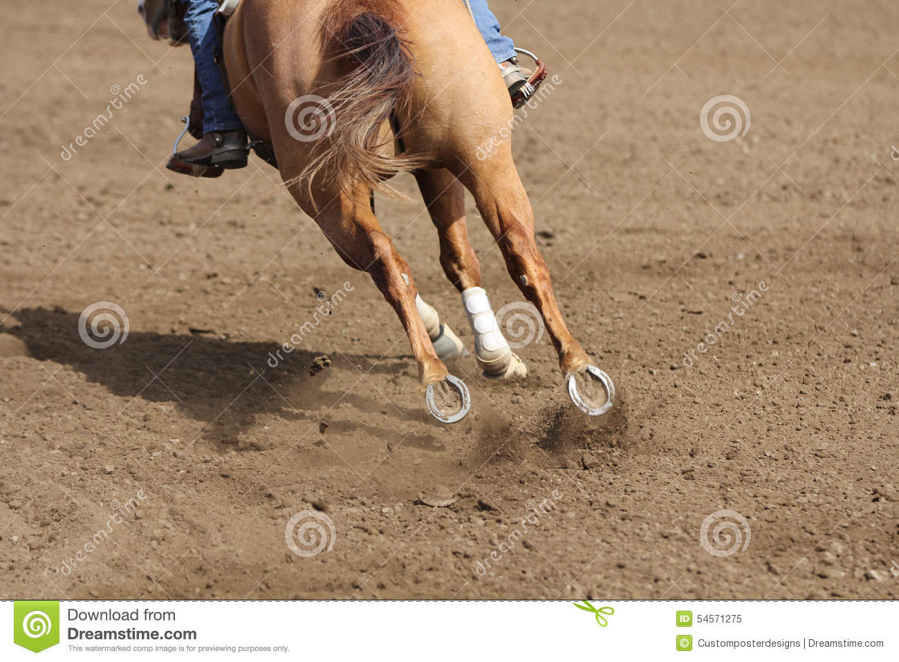 Download A Close Up View Of A Fast Running Horse And Flying Dirt. Stock Image - Image of dirt, competing: 54571275
