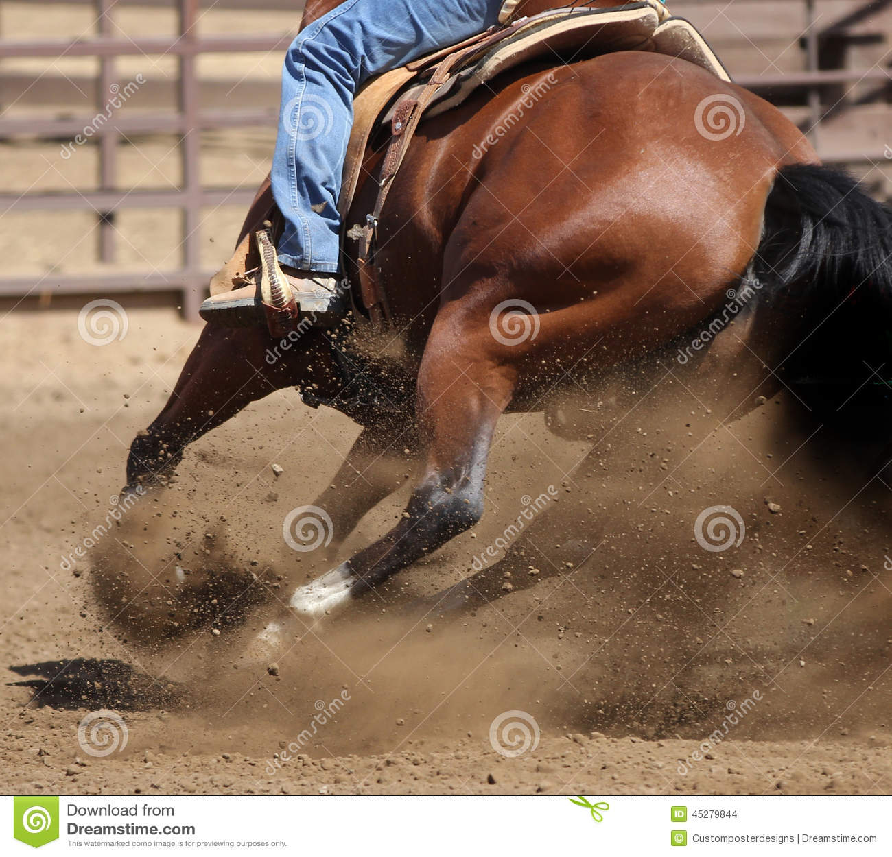 Download A Close Up View Of A Horse And Flying Dirt. Stock Photo - Image of competition, bike: 45279844